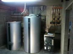 Mooie warmtepomp-installatie in opbouw